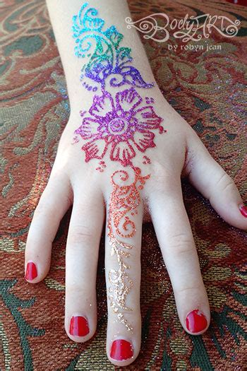 healing henna face painting glitter tattoos white