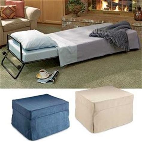 ottomans small furniture and two beds on