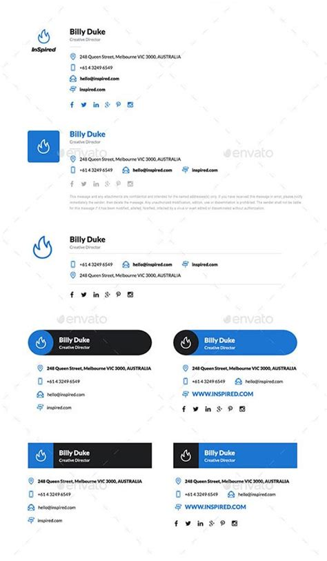 email signature 35 templates free download 15 professional email signature psd templates