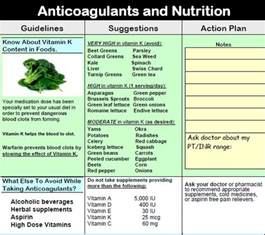 Coumadin Vitamin K Foods Chart