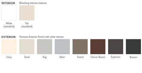 window frame colors montecito 174 series vinyl windows milgard windows doors