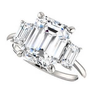3 carat moissanite engagement rings kennedy ring 3 5 carat forever brilliant moissanite engagement ring platinum 2376303 weddbook