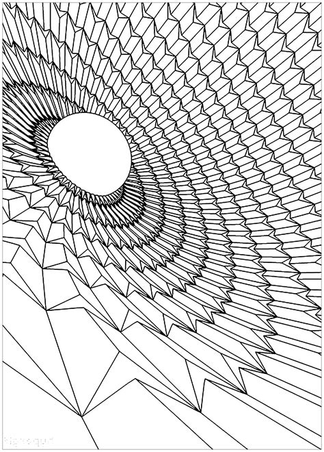 black hole psychedelic adult coloring pages