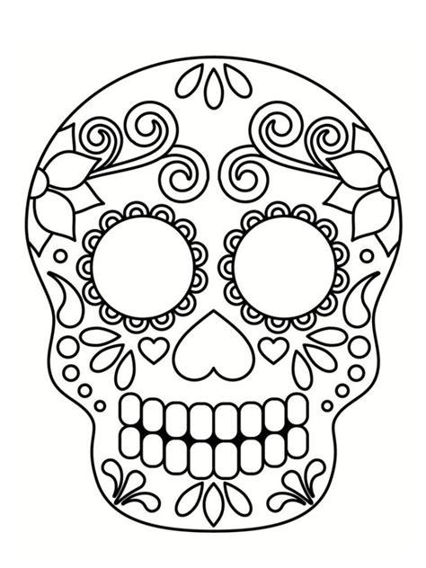 coloriage t 234 te de mort mexicaine 20 dessins mask coloriage t 234 te de mort t 234 te de mort