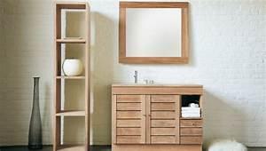 meuble salle de bain bois 35 photos de style rustique With meuble salle de bain pratique