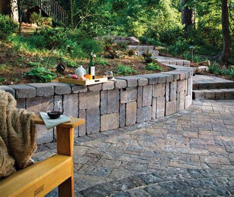 belgard lafitt and weston wall patio pinterest