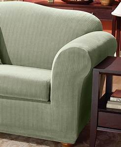sure fit stretch pinstripe 2 piece t cushion sofa With 2 piece sectional sofa slipcovers