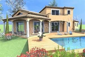 vente de plan de maison traditionnelle With exceptional modele de maison en l 4 photo terrasse maison provencale
