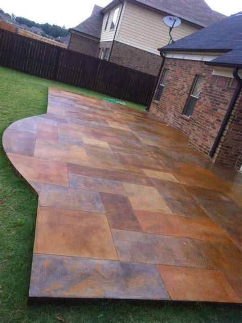 deas floor decor acid stained concrete decorative