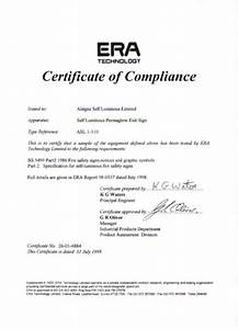 alsigns surelite division certificate of compliance With certificate of manufacture template