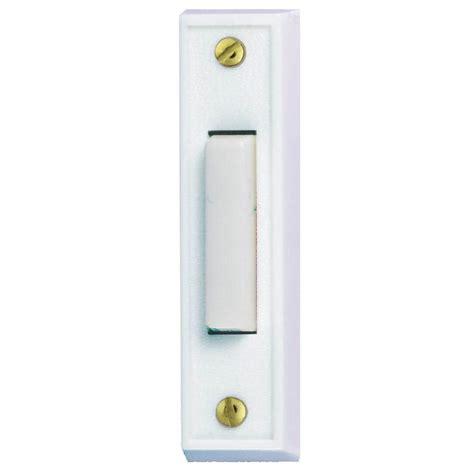 home depot door bells hton bay wired lighted door bell push button white hb
