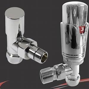 Thermostatique robinet de radiateur seche serviettes 15mm for Robinet thermostatique seche serviette