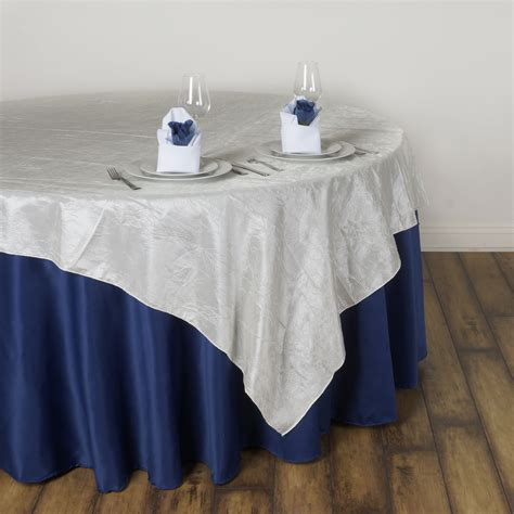 60x60 square tablecloth 60x60 quot taffeta crinkled table overlay wedding 1119