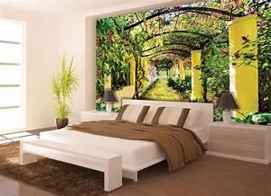 Summer Garden wallpaper murals by Homewallmurals.co.uk
