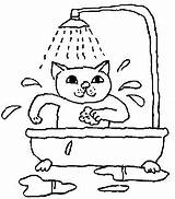 Bath Coloring Pages Bathroom Taking Bubble Picgifs Printable Toilet Bird Getcoloringpages sketch template