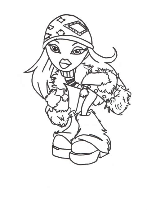 Coloring Books by Free Printable Bratz Coloring Pages For