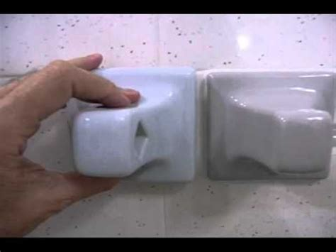 installing towel bar grout mount type diy youtube