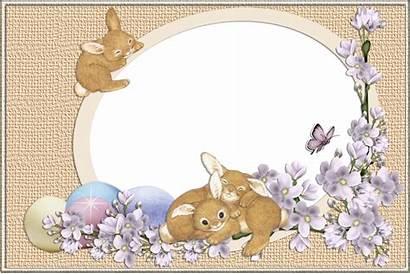 Easter Frame Transparent Bunnies Frames Clipart Borders