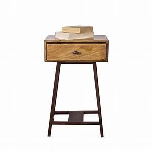 Table D Appoint : table d 39 appoint bois m tal vintage frem par drawer ~ Teatrodelosmanantiales.com Idées de Décoration