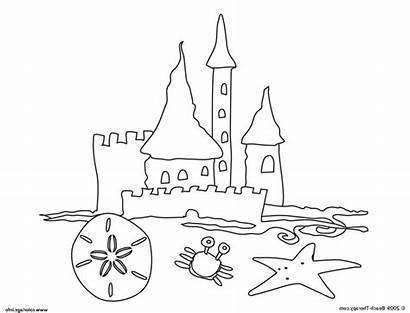 Castle Coloring Sand Chateau Facile Dessin Sable