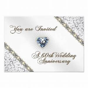 60th wedding anniversary rsvp invitation card 35quot x 5 With 60th wedding anniversary invitations