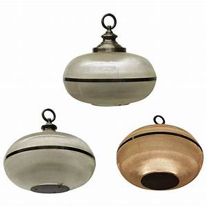 Set of three holophane ceiling lights circa made in