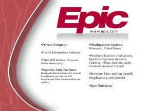 Epic Charting System Epic Presentation