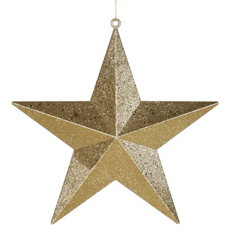 christmas ornaments stars 20 inch gold glitter ornament m116308
