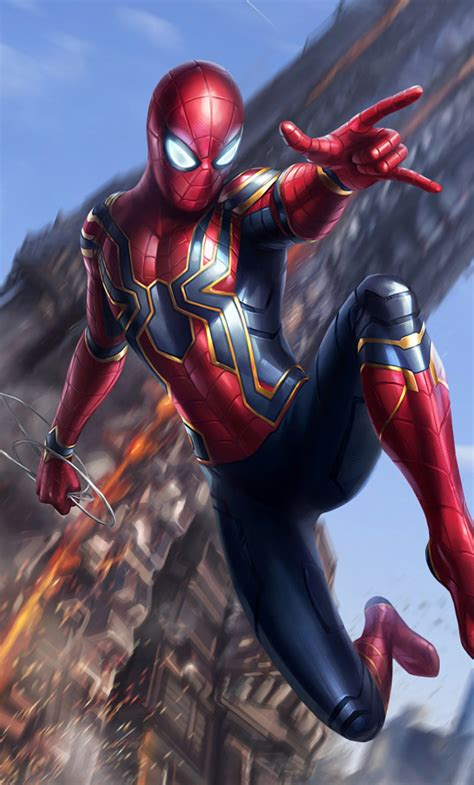 Iron Spider Background by Iron Spider Infinity War Hd 2k Wallpaper