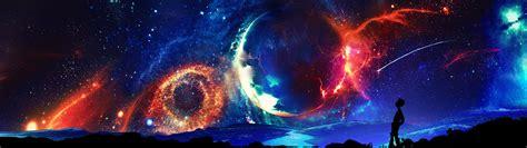 Universe, Space, Digital Art, Dual Monitors, Multiple