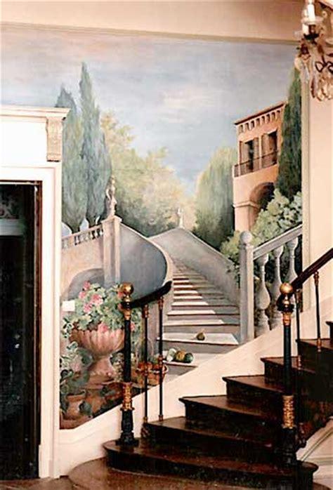 peinture panoramique trompe loeil panoramique