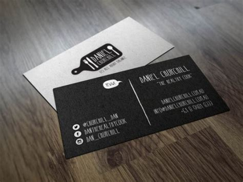 examples creative chef business card  inspiration