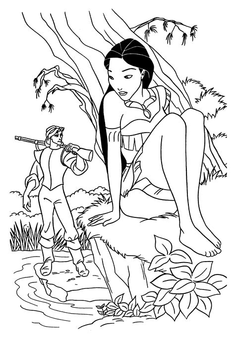 free printable pocahontas coloring pages for