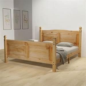 Cadre De Lit 160x200 : vidaxl cadre de lit lit double lit adulte pin mexicain ~ Nature-et-papiers.com Idées de Décoration