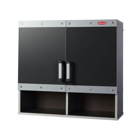 Rubbermaid Storage Cabinets Home Depot by Rubbermaid Fasttrack 30 In Laminate Garage Wall Cabinet