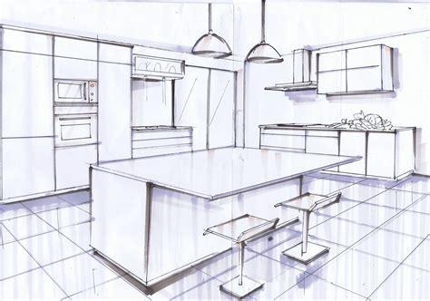 dessin d une cuisine emejing salon moderne en perspective gallery awesome