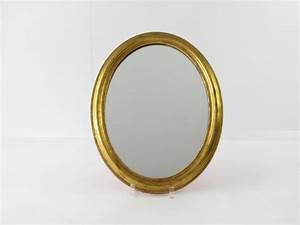 Spiegel Mit Goldrahmen : kleiner ovaler spiegel mit goldrahmen 35 x 45 cm sammlerparadies24 ~ Indierocktalk.com Haus und Dekorationen