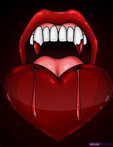 How to Draw Vampire Teeth, Step by Step, Vampires ...