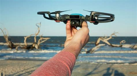 djis  spark drone launches   palm