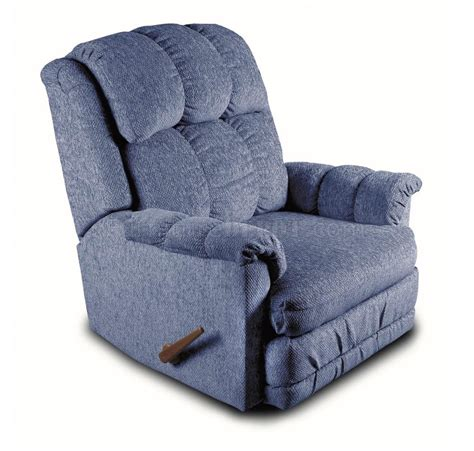 Designer Recliners by Blue Chenille Contemporary Deluxe Rocker Recliner