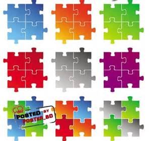 Vector Puzzle Clip Art