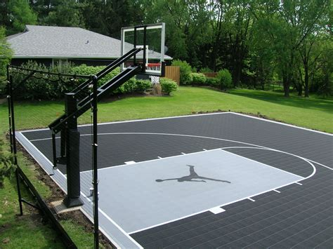 garden basketball court bring ya friends over kids i ll teach you how to be a real baller no more of those jibby