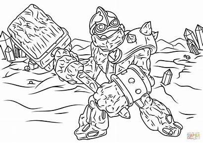 Coloring Pages Skylanders Giants Crusher Printable Drawing
