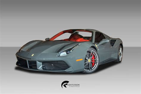 Losing the roof doesn't compromise the magic. Ferrari 488 Spider Grey - Centurion Lifestyle