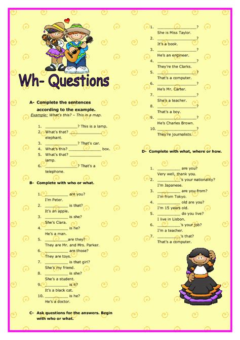 answering wh questions worksheets the best worksheets