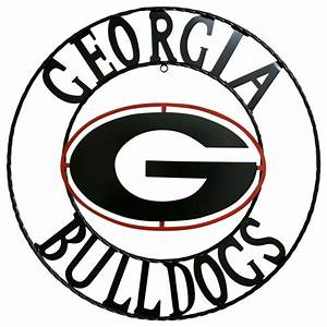 georgia bulldogs wrought iron wall deco metal wall art With kitchen cabinets lowes with georgia bulldogs wall art