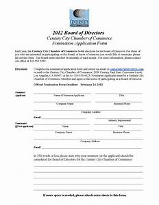 board member application template - century city chamber of commerce 2012 january