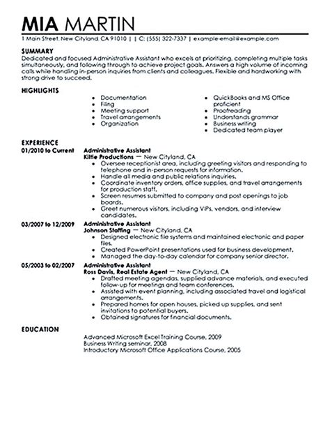 Professional Summary For Administrative Assistant by Executive Assistant Resume Executive Assistant Resume Is