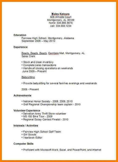 high school student resume exles best