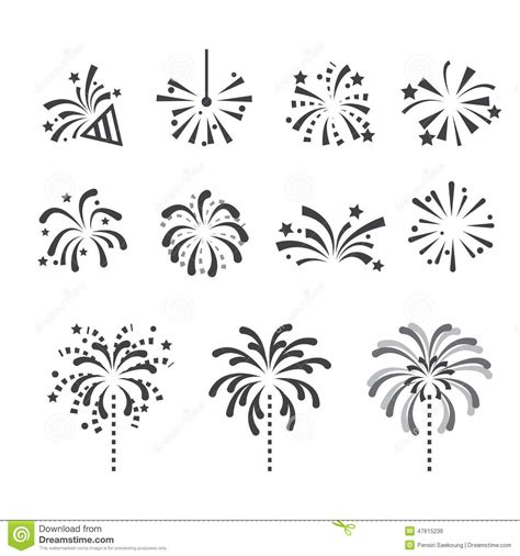 fireworks icon stock vector illustration  decorative